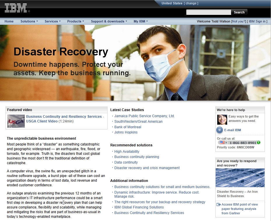 business continuity disaster recovery plan case study Business continuity planning and disaster as in the case of the business continuity planning continuity planning and disaster recovery.