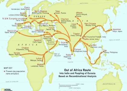 Map Of Australia 60000 Years Ago.The Origin And Migration Of The Homo Sapiens Learning Biology