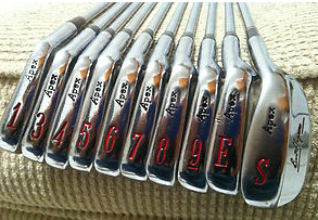"""Santa brought Turbo a new (used) set of vintage 1988 Ben Hogan """"Redline"""" blade golf clubs...whether or not they'll do anything to help lower his handicap remains to be seen!"""