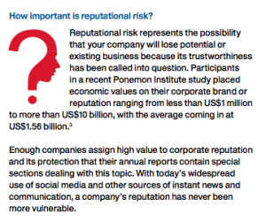IBM -- Importance Of Reputational Risk