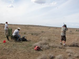 Turbo takes out his pent up frustrations on some harmless clay pigeons in the wilds of West Texas, while also basking in his short-lived technological  disconnectedness.